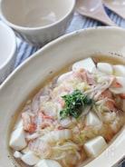 豆腐のトローリ白菜あんかけ