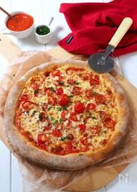 『捏ね発酵なし!超簡単ピザ生地』