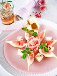 無花果と生ハムとクリームムチーズのサラダ
