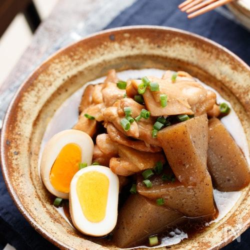 鶏肉とこんにゃくの甘辛煮【#作り置き#お弁当#煮るだけ】