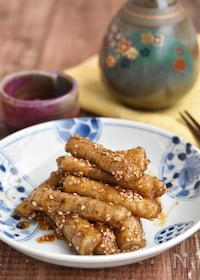 『カリカリごぼうの甘辛にんにく醤油焼き【冷凍・作り置き】』