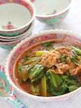 小松菜の豚チリ炒め