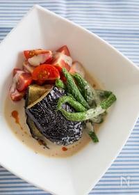 『夏野菜の豆乳坦々スープがけ』