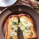 冷凍保存可能♡チーズとしらすのねぎ醤油冷凍作りおきトースト