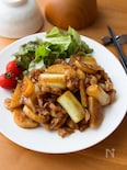 ボリューム満点!『長芋と長ねぎと豚肉の生姜焼き風炒め』