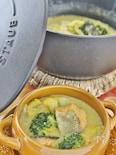 生秋鮭と白菜のカレー風味煮込み
