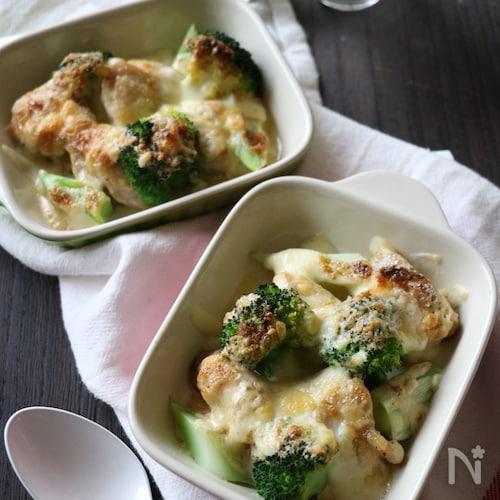 チキンとブロッコリーのごまマヨチーズ焼き