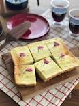 桜と甘酒の和風ベイクドチーズケーキ