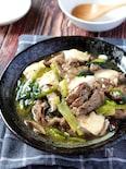 コクが溢れる旨さ♡牛肉とちぎり豆腐のとろみオイスター煮
