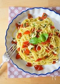 『バジルとトマトのパスタ』