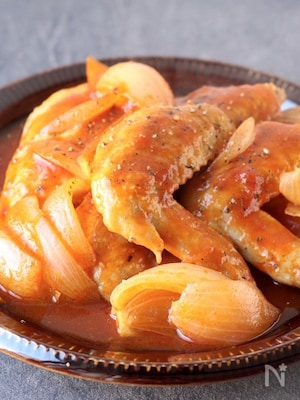 手羽先の中華風トマト煮