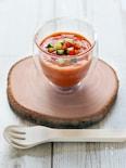 トマト缶で簡単☆本格ガスパチョ(冷たいトマトスープ)