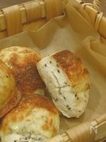 【簡単おうちパン】【トースターで焼けるゴマチーズパン