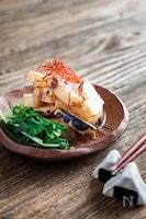 焼き長芋と水菜のおひたし