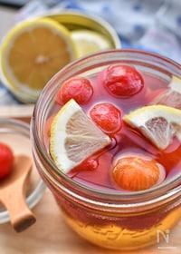 『甘酸っぱさがたまらない♡レモンシロップのプチトマト漬け♡』