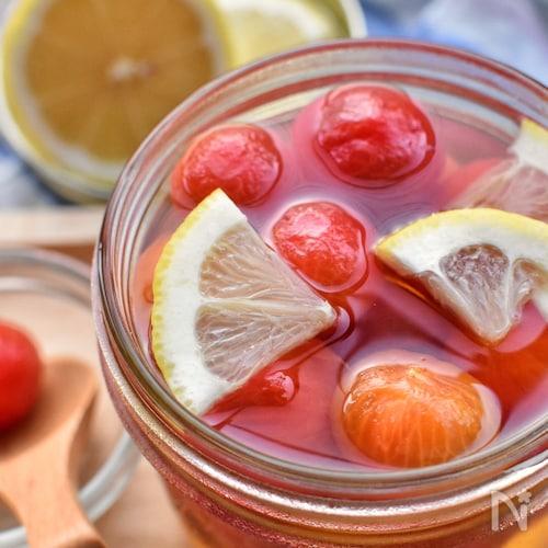 甘酸っぱさがたまらない♡レモンシロップのプチトマト漬け♡