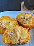 固くなったフランスパンを活用♪ツナ&チーズのフレンチトースト