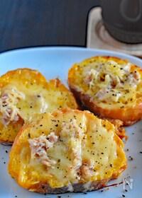 『固くなったフランスパンを活用♪ツナ&チーズのフレンチトースト』