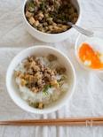 筍の中華風そぼろ炒め