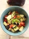 水なすとトマトのサラダ、バジル風味