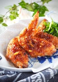『やみつき*鶏手羽先のガーリック甘味噌焼き#作り置き』