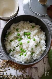 コク旨♡バター 緑鮮やか!ふっくらお豆とご飯【洋風豆ごはん】
