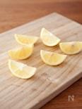 レモンのくし切りの方法
