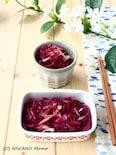夏の常備菜 * みょうがと紫キャベツの甘酢漬け