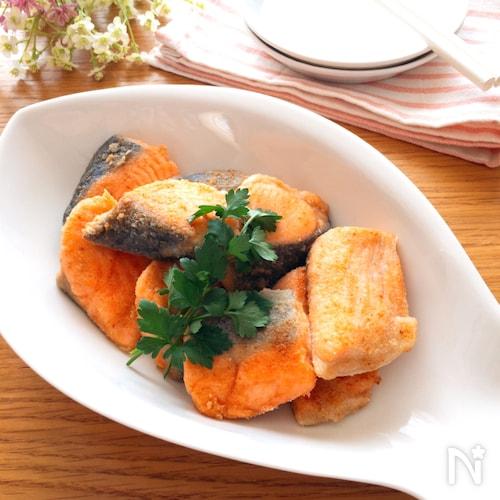 めちゃめちゃ簡単でいい味♡生鮭のガーリック中華焼き