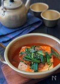 『ポカポカあたたまります♡*豆腐のキムチ煮*』