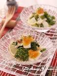 菜の花とゆで卵のサラダ*めんつゆ*マヨで味付け簡単