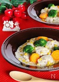 『鶏とコーンのマスタードクリーム煮』