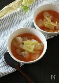 『かぶとセロリと鶏肉の麻辣スープ』