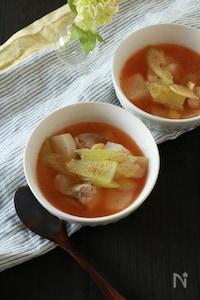 かぶとセロリと鶏肉の麻辣スープ