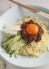 『【作り置き鶏そぼろ味噌使用】ジャージャー麺』