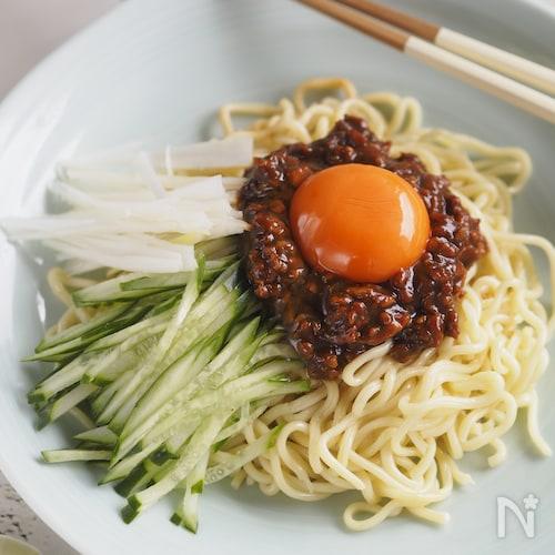 【作り置き鶏そぼろ味噌使用】ジャージャー麺