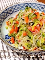 放置して混ぜたら一品完成♪やみつき野菜の白菜たっぷりサラダ♡