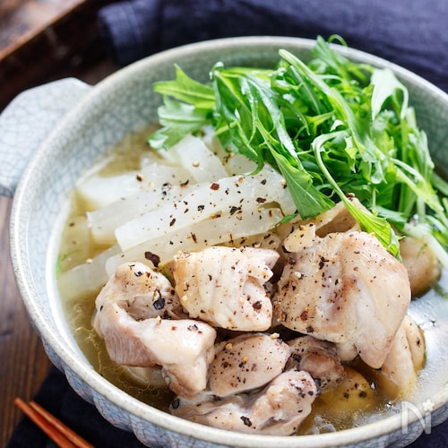 鶏ととろとろ大根のうま塩煮【#簡単 #時短 #やみつき】