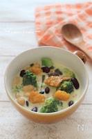 食物繊維とビタミンたっぷり。かぼちゃのミルクスープ
