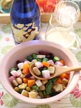 お豆とアスパラの白和えサラダ