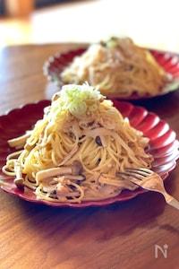 新玉ねぎとツナの和風スパゲッティ
