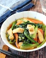 シンプルなほっこり味♪小松菜と油揚げの煮浸し