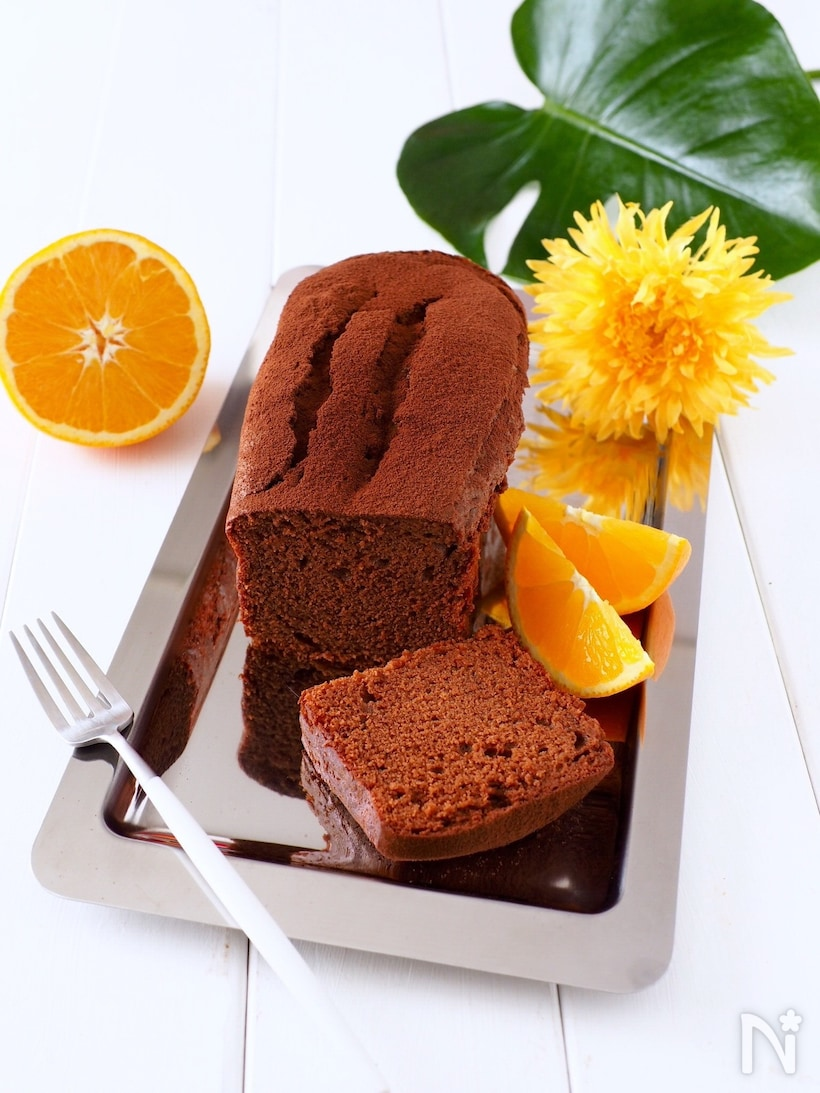 材料3つのチョコパウンドケーキ