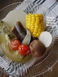 ひんやり、さっぱり♪夏野菜の梅冷しおでん