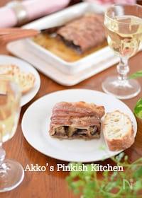 『豚バラ肉とナスのハニーマスタード焼き♡ ワインのある食卓』