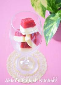 『フローズンヨーグルトの黄金比率♡製氷皿で2層のアイスキューブ』