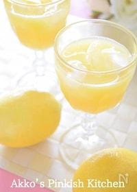 『フレッシュレモン果汁のオレンジジュース割り 大人ならコレね!』
