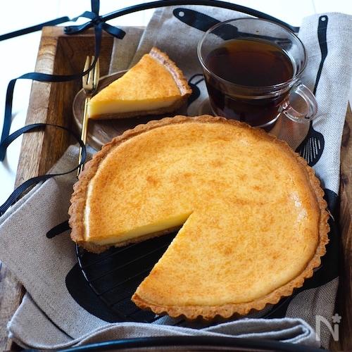 アレを使ってタルト生地が簡単に出来る!チーズケーキタルト
