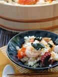 簡単!*漬けサーモンと海老とたこの混ぜ寿司*