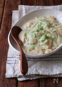 『鶏胸肉と白菜の豆乳クリーム煮込み。』